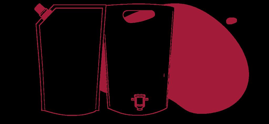 pouch wineintube