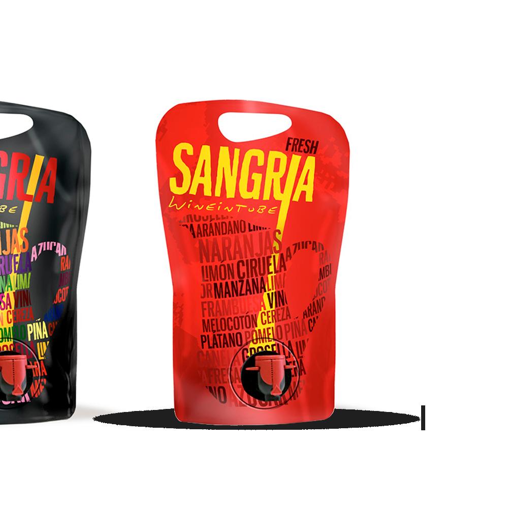 Sangria wineintube formato pouch