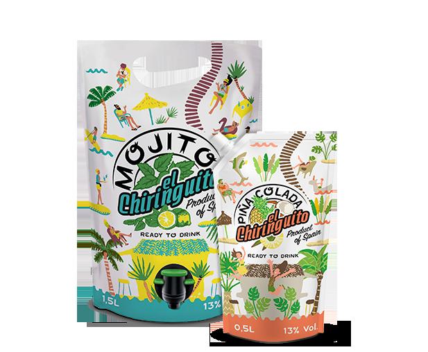 packs el chiringuito coctails formato pouch