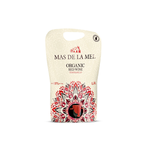 Vino tinto tempranillo Mas de la Mel formato pouch